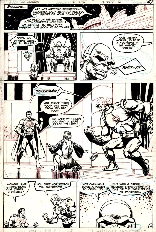 DC Comics Presents #36 p 16 (STARLIN PENCILS & INKS, SUPERMAN / MONGUL SUPER PAGE!) 1981