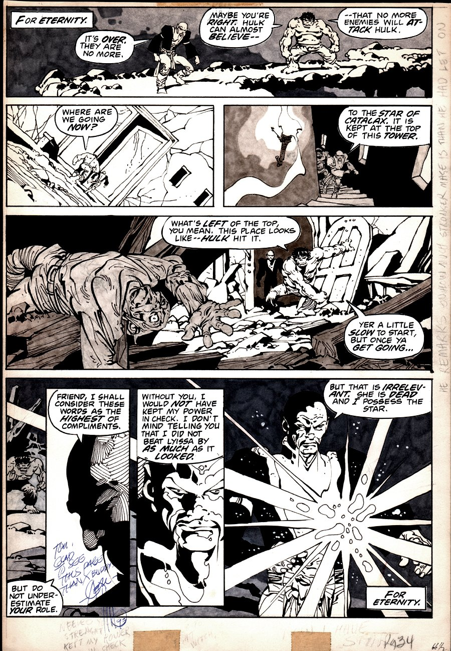 Rampaging Hulk #4 p 34 (HULK IN 5 PANELS WITH SORCEROR!) 1977