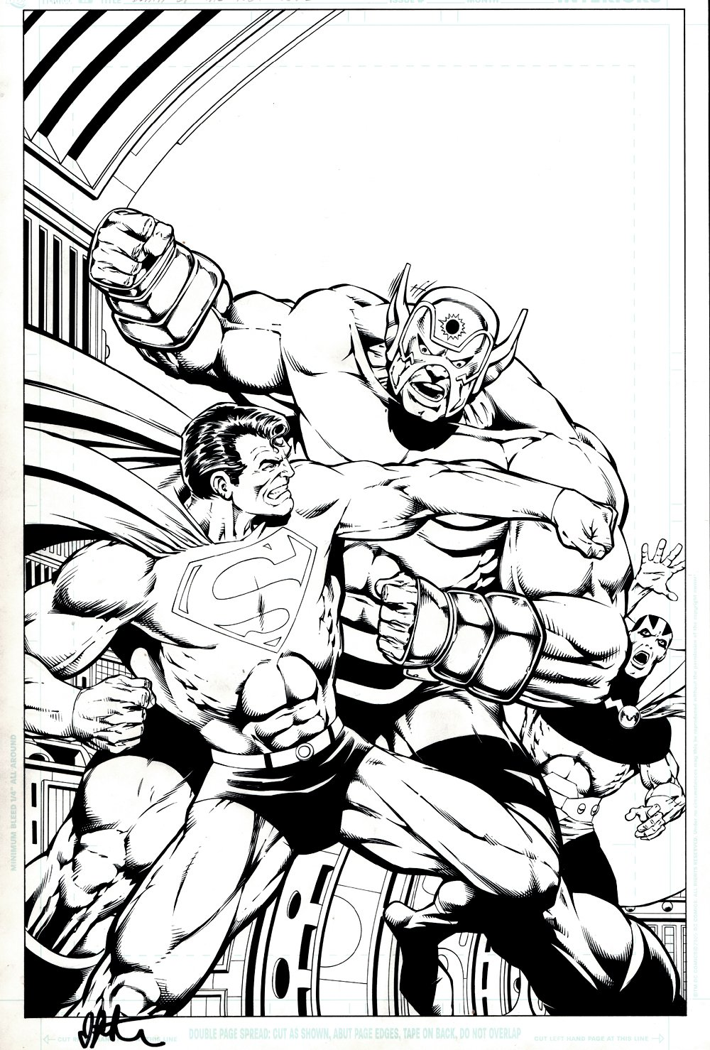 Death of the New Gods #2 Cover (Superman Battles Orion! Mr. Miracle Helps!) 2007