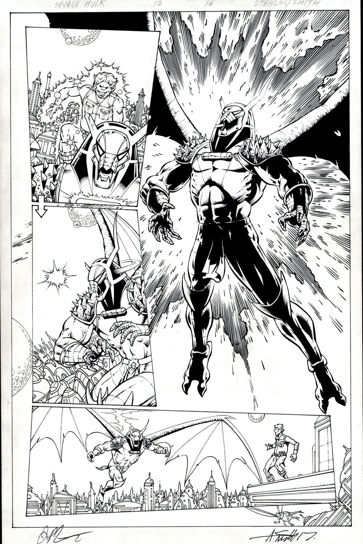 Thanos vs. Hulk #4 p 16 Semi-Splash (Annihilus Battles Pip the Troll!) 2015