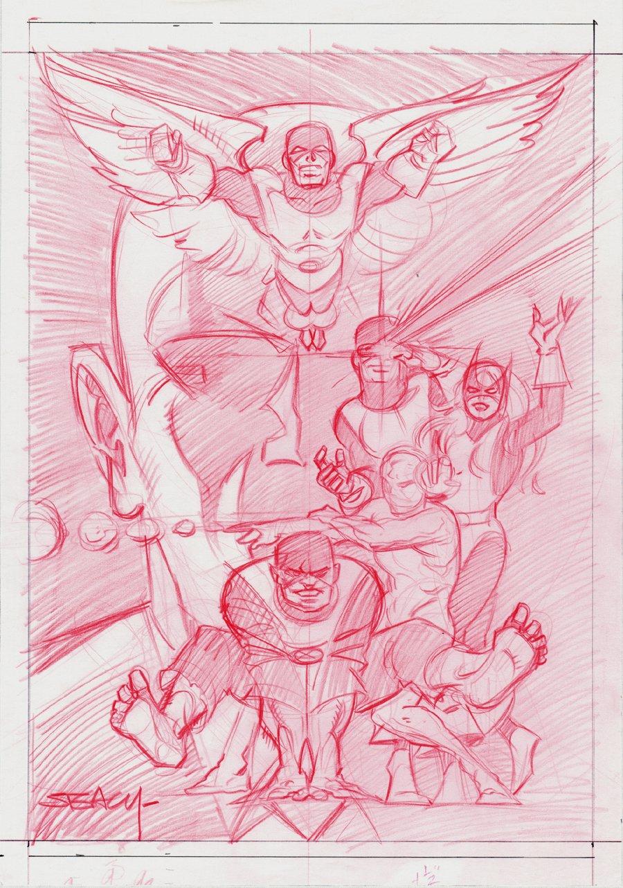 X-Men Poster & Card Prelim (1993)