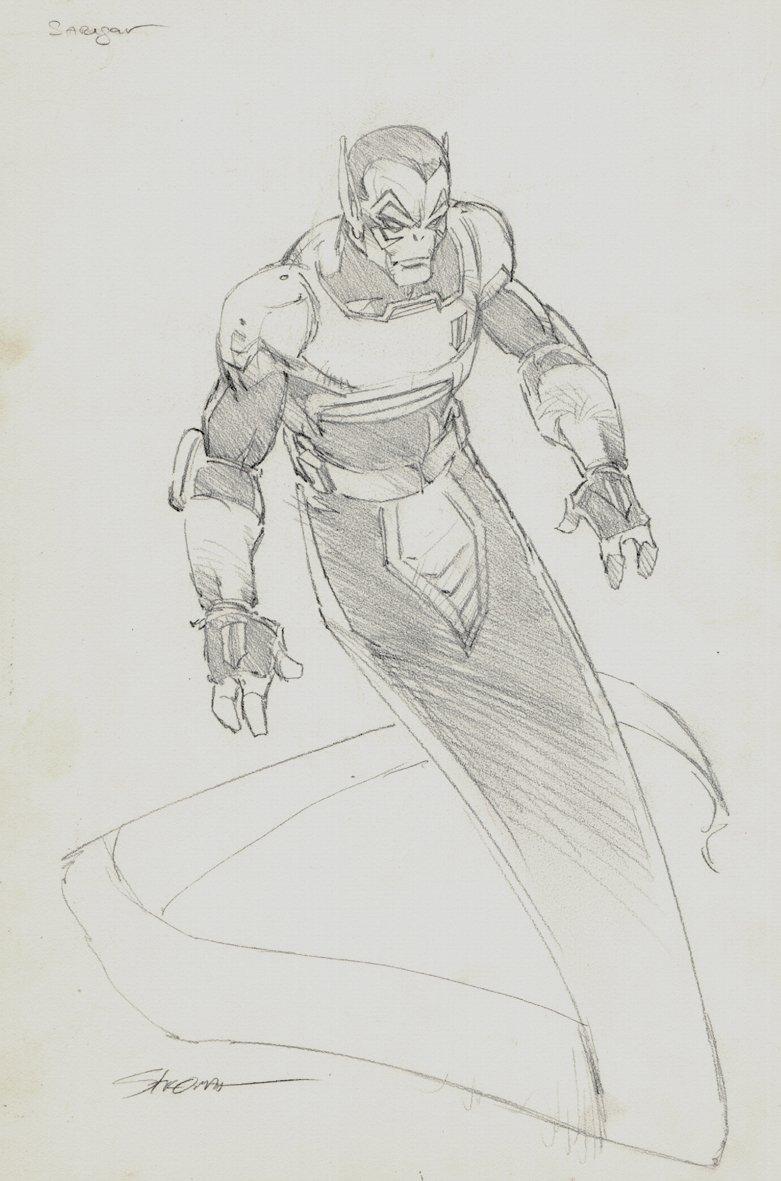 SARIGAR (From Alien Legion) Full Body Pinup