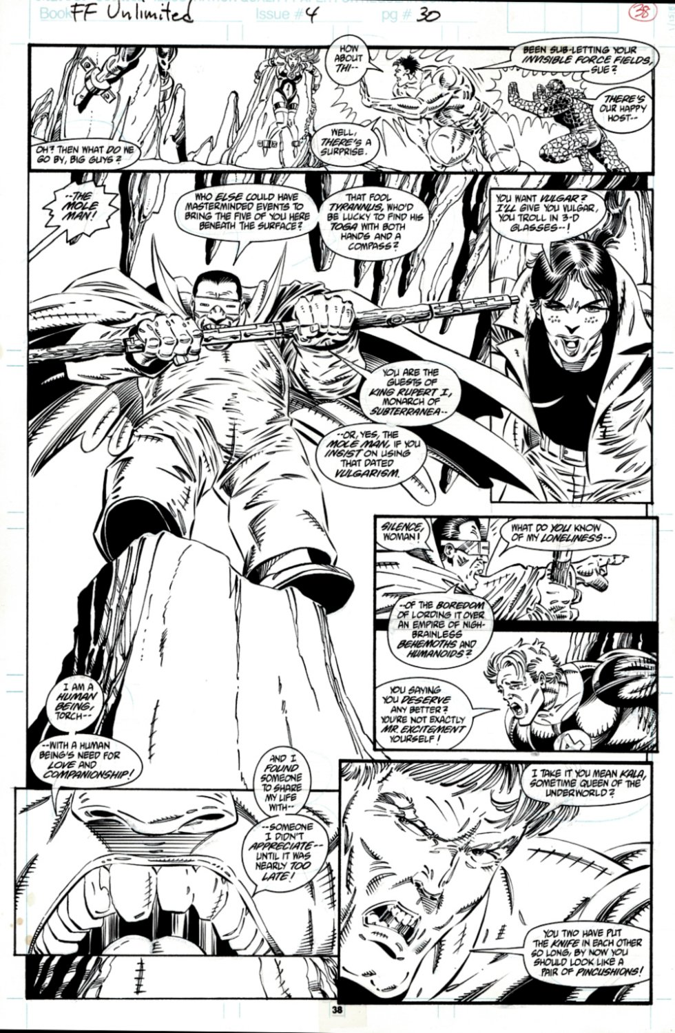 Fantastic Four Unlimited #4 p 38 (SOLD LIVE ON THE ROMITAMAN ART DROP PODCAST ON 10-9-2021