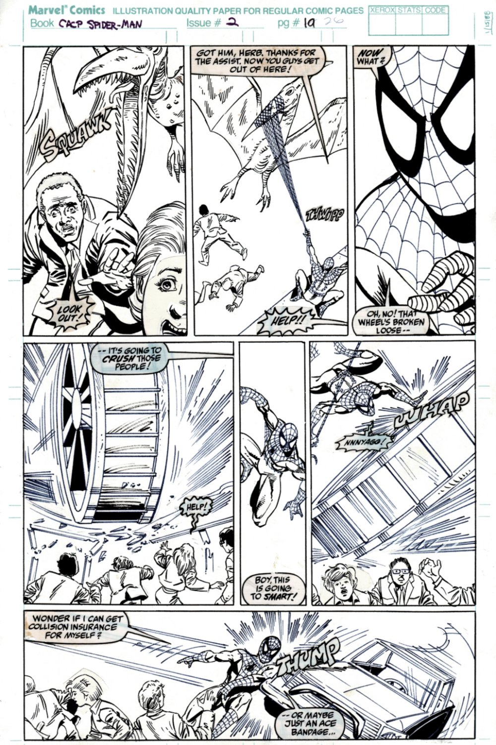 Amazing Spider-Man: Double Trouble #2 p 19 (SOLD LIVE ON 'DUELING DEALERS OF COMIC ART' EPISODE #38 PODCAST ON 9-29-2021)