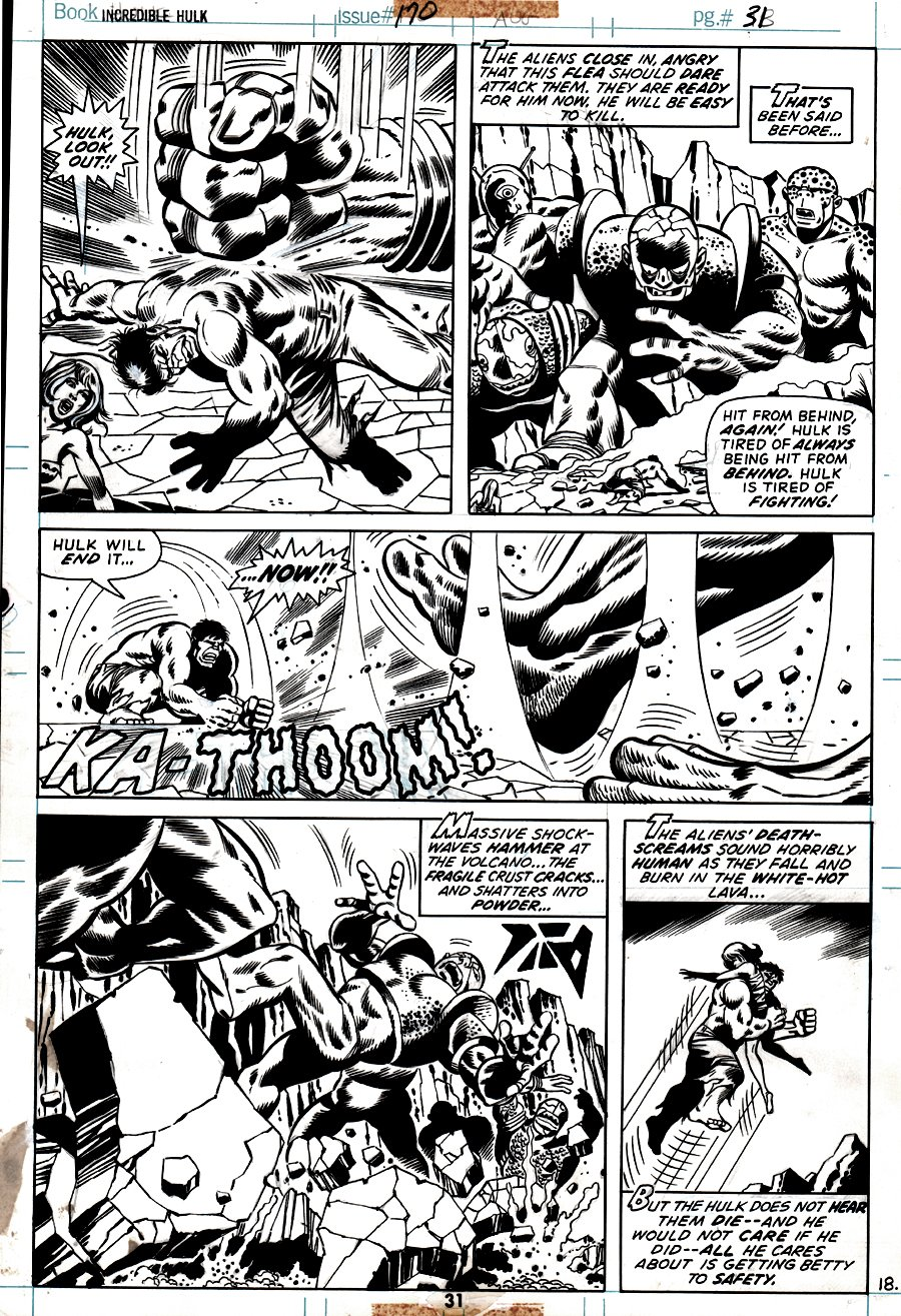 Incredible Hulk #170 p 31 (ALL OUT BATTLE PAGE!) 1973