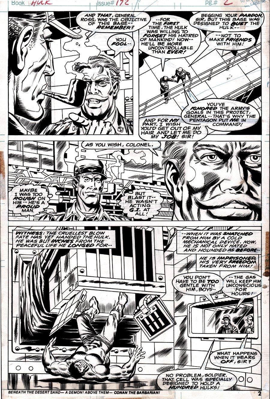 Incredible Hulk #172 p 2 (THUNDERBOLT ROSS CAPTURES THE HULK!) 1973
