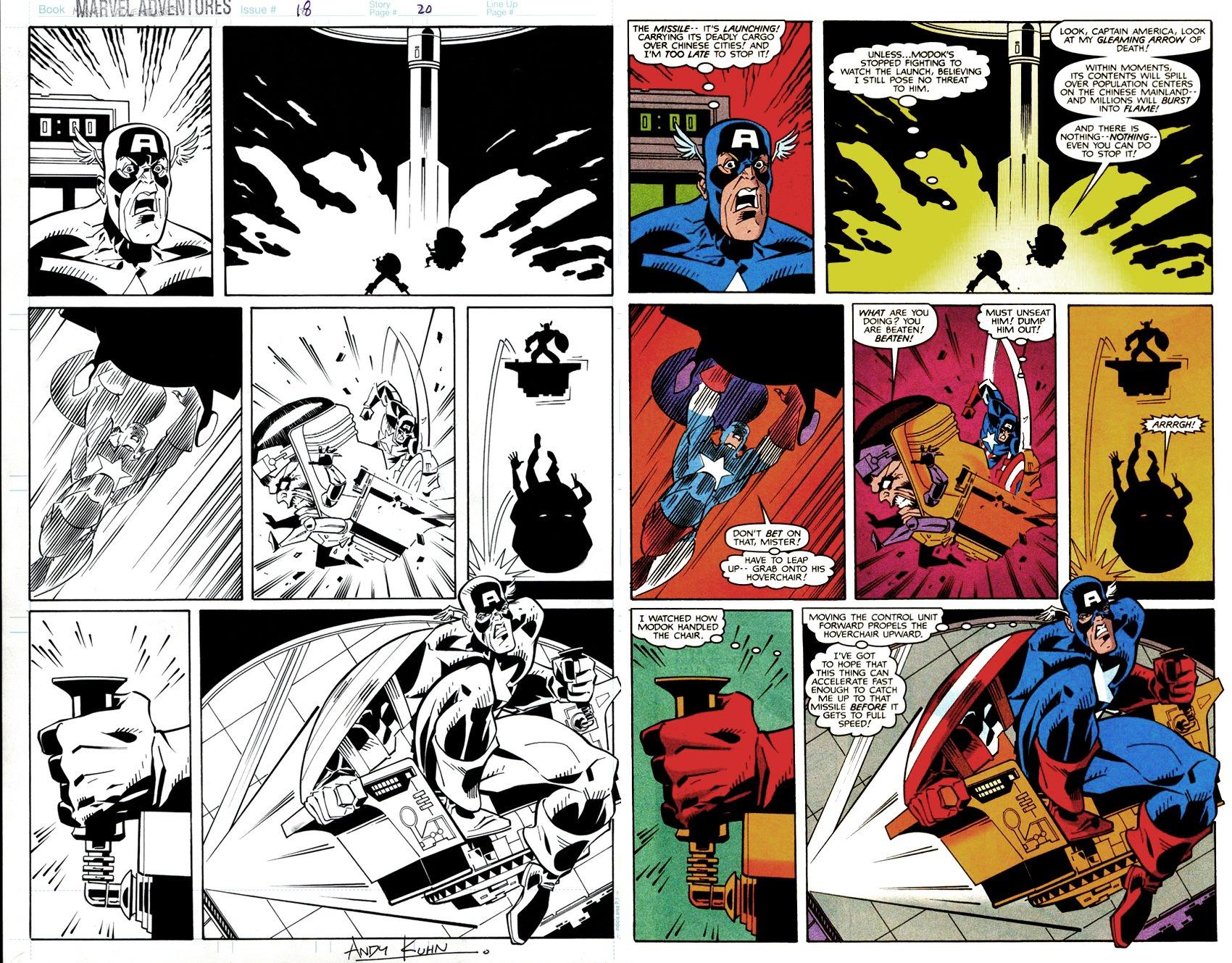 Marvel Adventures #18 p 20 (Captain America Battles THE SUPER EVIL, HORRIBLE, DASTARDLY, DESPICABLE: MOY-DOK!) 1998