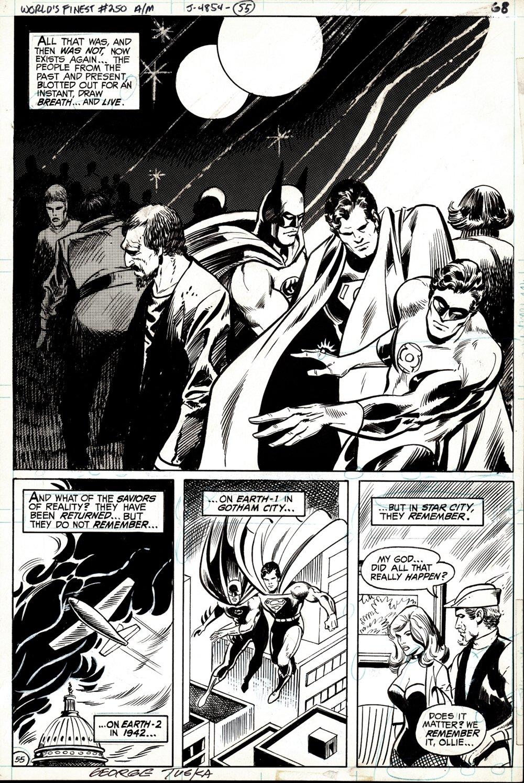 World's Finest #250 p 55 (Splash: Batman, Superman, Green Lantern, Black Canary, Green Arrow!) 1977