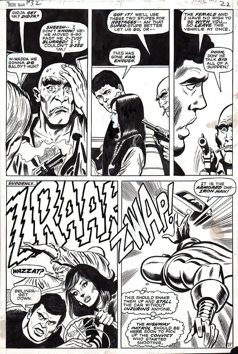 Iron Man #32 p 17 (IRON MAN!) 1970