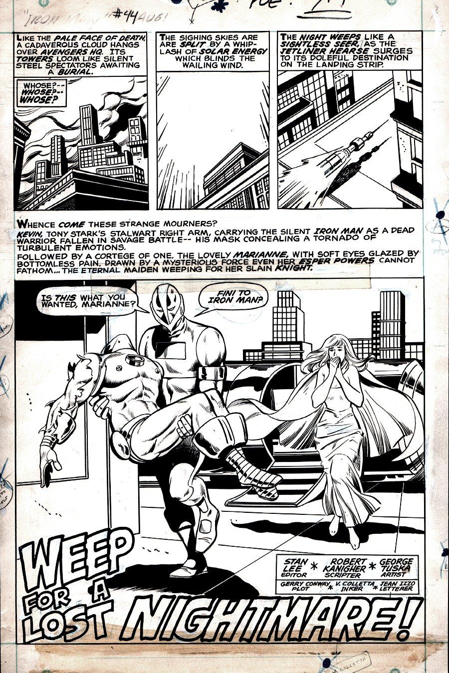 Iron Man #44 p 1 SPLASH (1971)