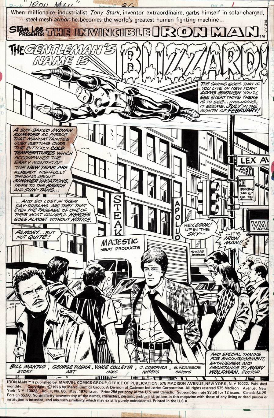 Iron Man #86 p 1 SPLASH (1976)