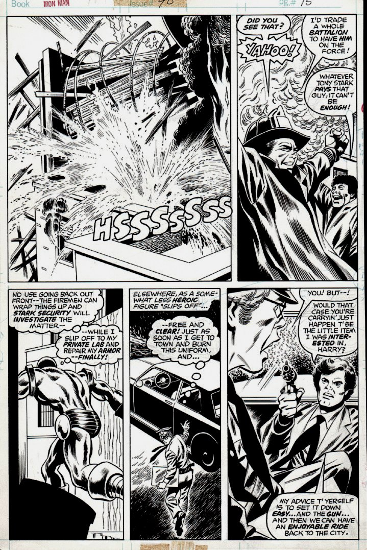Iron Man #90 p 15 (Iron Man & Fireman!) 1976