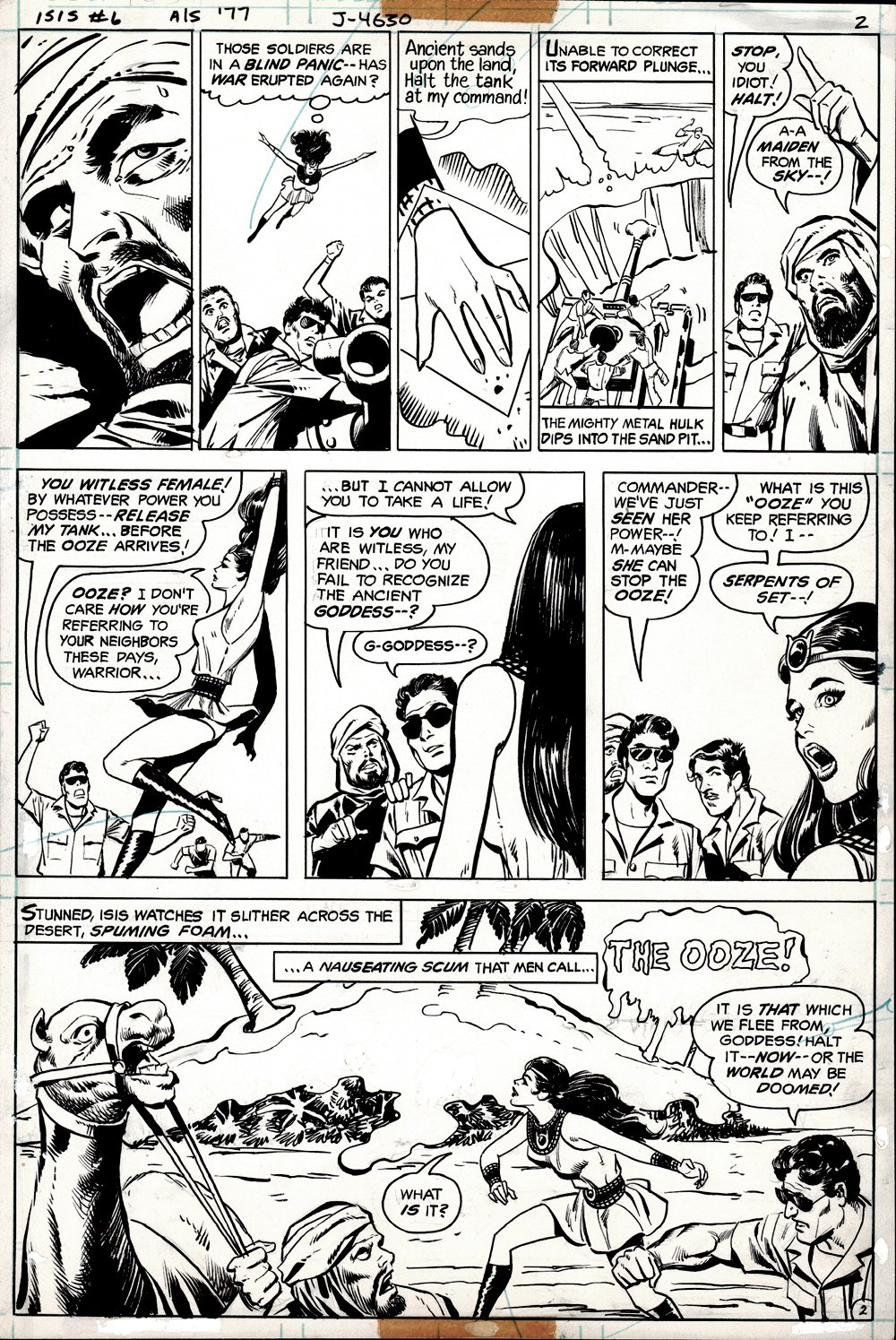 Isis #6 p 2 (GREAT ISIS BATTLE PAGE!) 1977