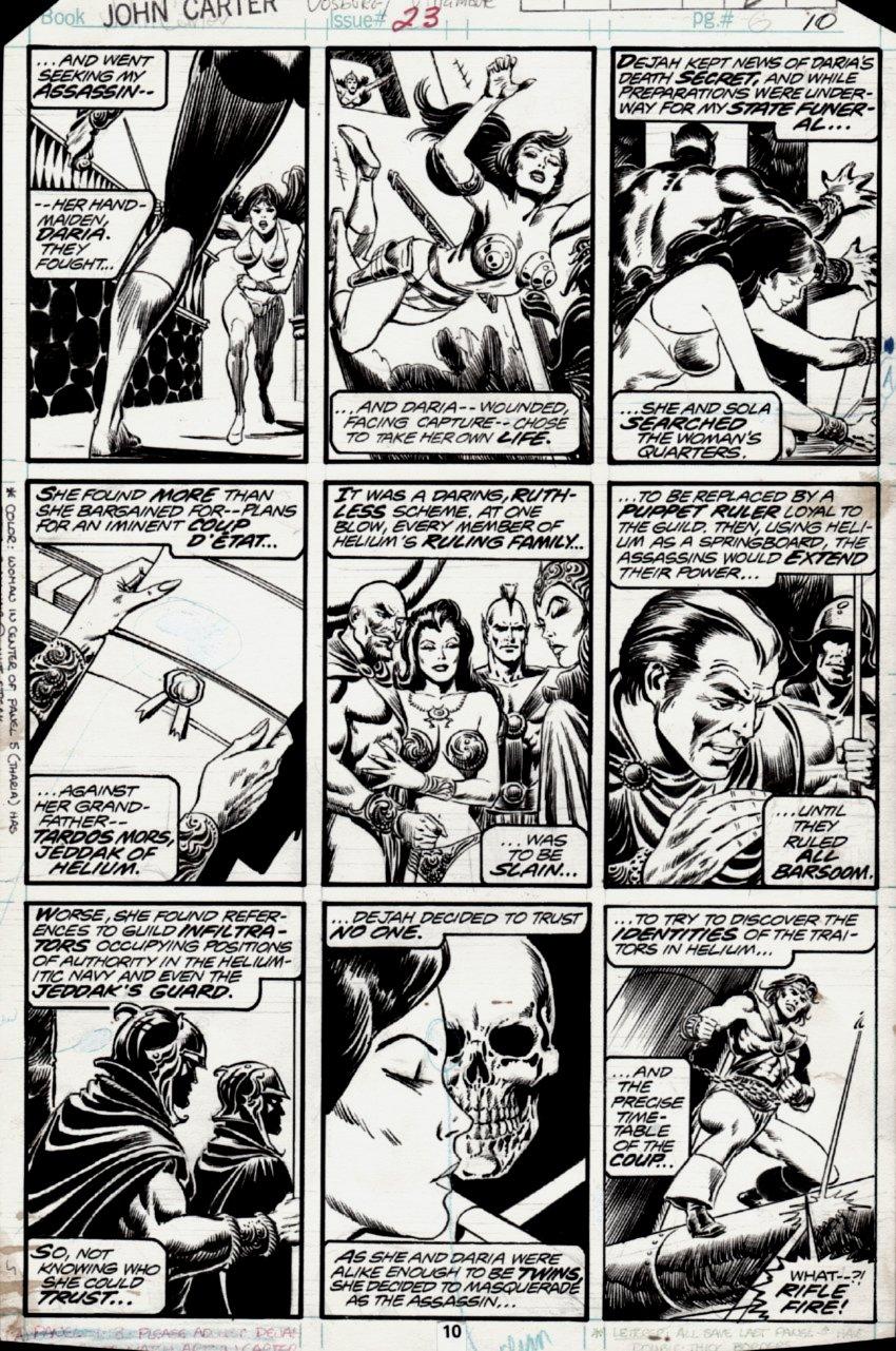 John Carter Warlord of Mars #23 p 10 (1978)