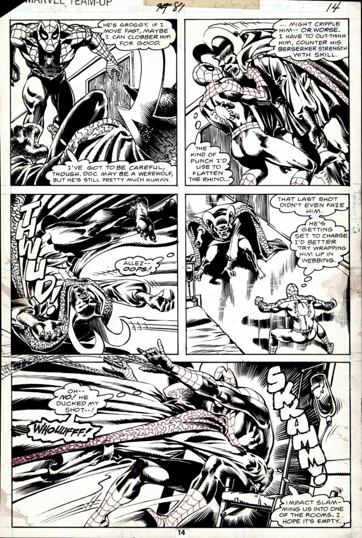 Marvel Team-Up #81 p 14 (BEST BATTLE PAGE IN BOOK! SPIDEY BATTLES DR STRANGE!) 1979