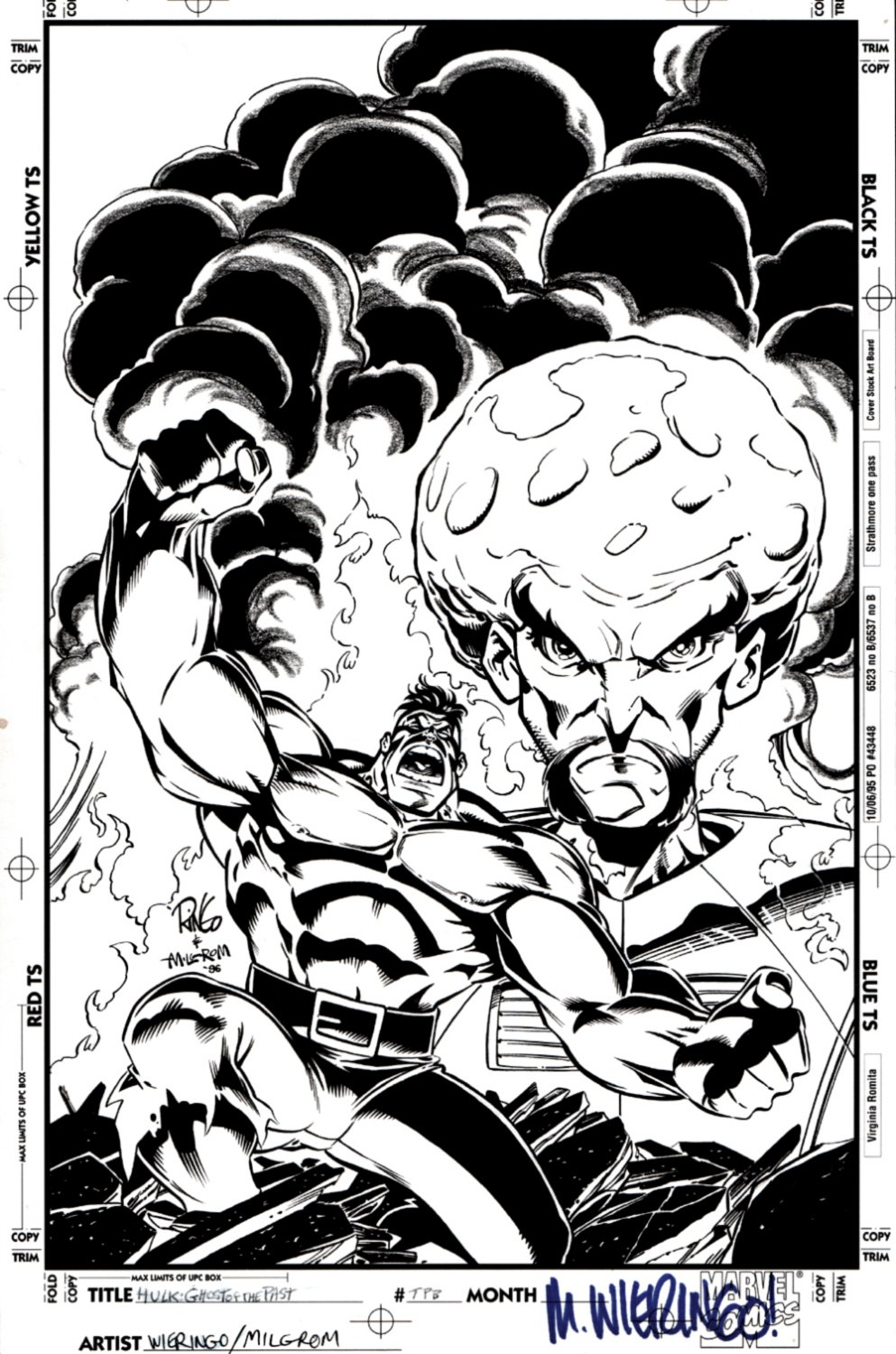 Hulk: Ghost of the Past TPB Cover (HULK VS THE LEADER!) 1996
