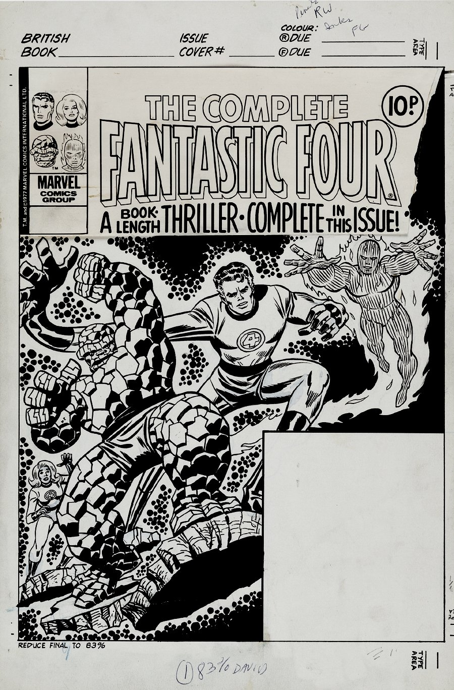 Complete Fantastic Four #2 Cover (1977)