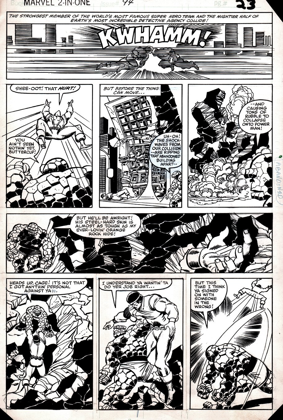 Marvel Two-in-One #94 p 23 (POWERMAN & THE THING, ALL OUT BATTLE!) 1982
