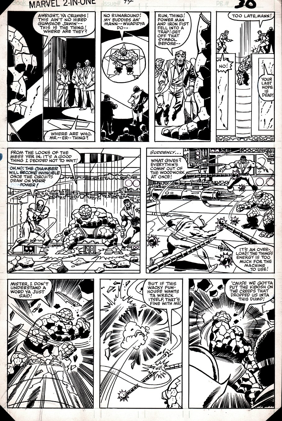 Marvel Two-in-One #94 p 30 (POWERMAN, IRONFIST, THE THING, BEST BATTLE PAGE IN THE BOOK!) 1982