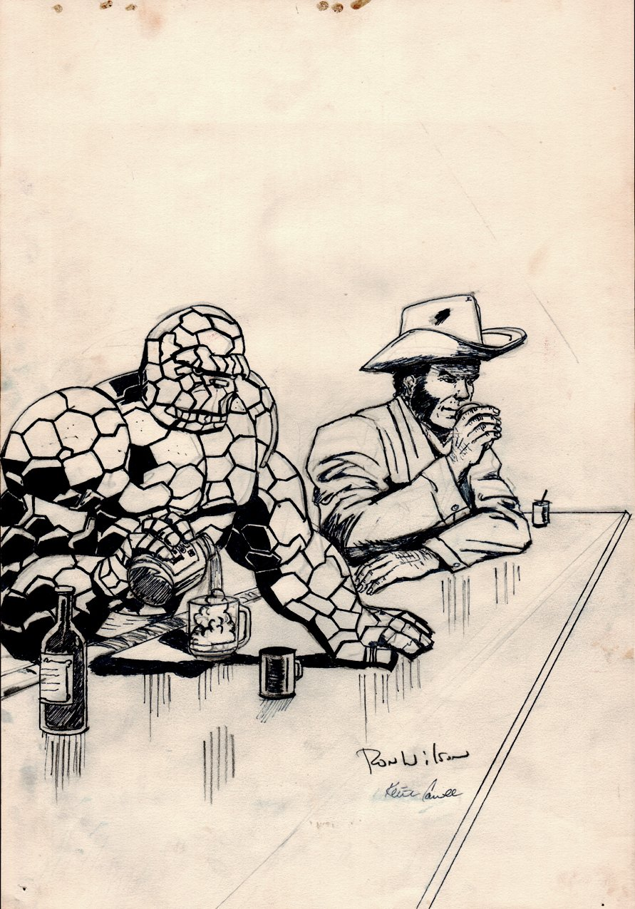 THE THING And WOLVERINE Pinup (Late 1970s - Early 1980s)