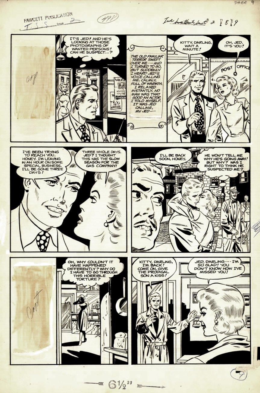 True Sweetheart Secrets #2 p 9 (Large Art) 1950