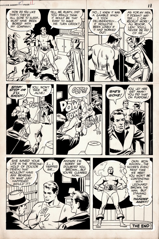T.H.U.N.D.E.R. Agents #7 p 11 (LAST PAGE DYNAMO IN EVERY PANEL!) Large Art - 1966!