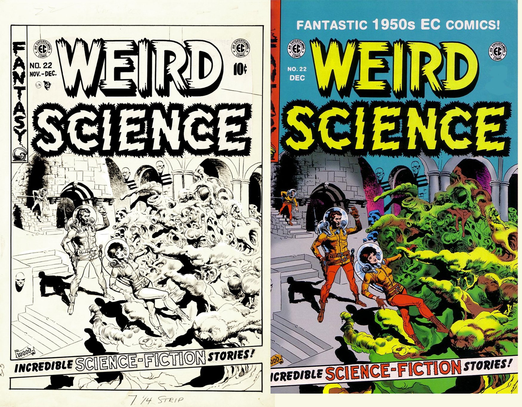 Weird Science #22 Cover (Large Art) 1953
