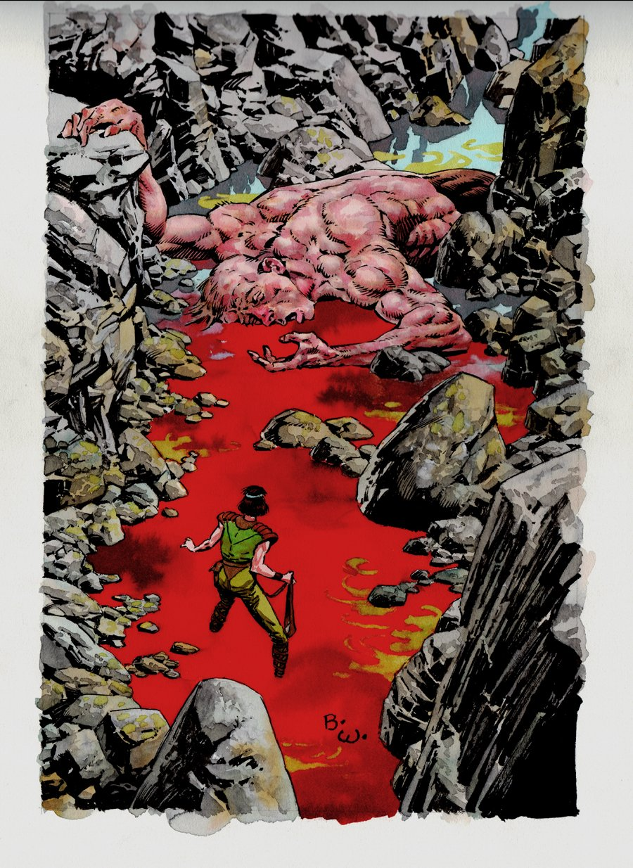 Bernie Wrightson: Master of the Macabre Painting (SOLD LIVE ON 'DUELING DEALERS OF COMIC ART' EPISODE #32 PODCAST ON 8-18-2021