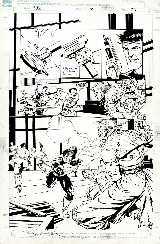 Punisher: P.O.V. #2 p 29SEMI-SPLASH (GREAT PUNISHER VS ZOMBIE BATTLE!) 1991