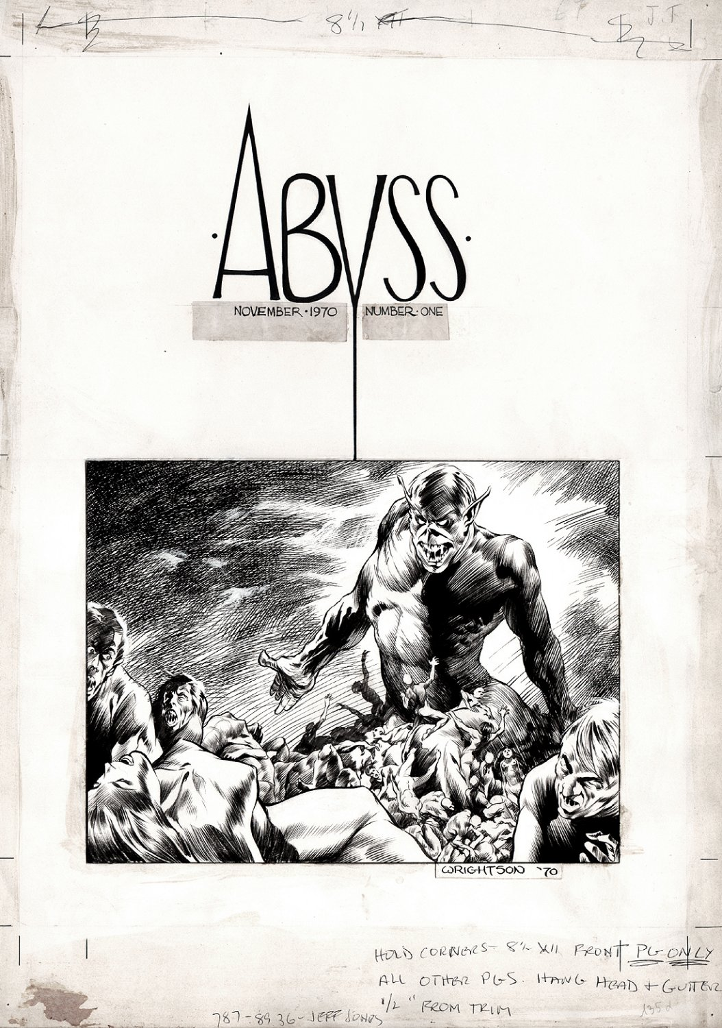 'The Abyss' Cover Art (1970)
