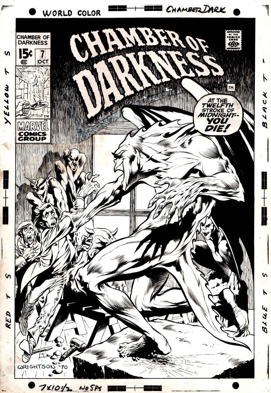 Chamber of Darkness #7 Cover (VERY FIRST WRIGHTSON MARVEL COVER!) 1970