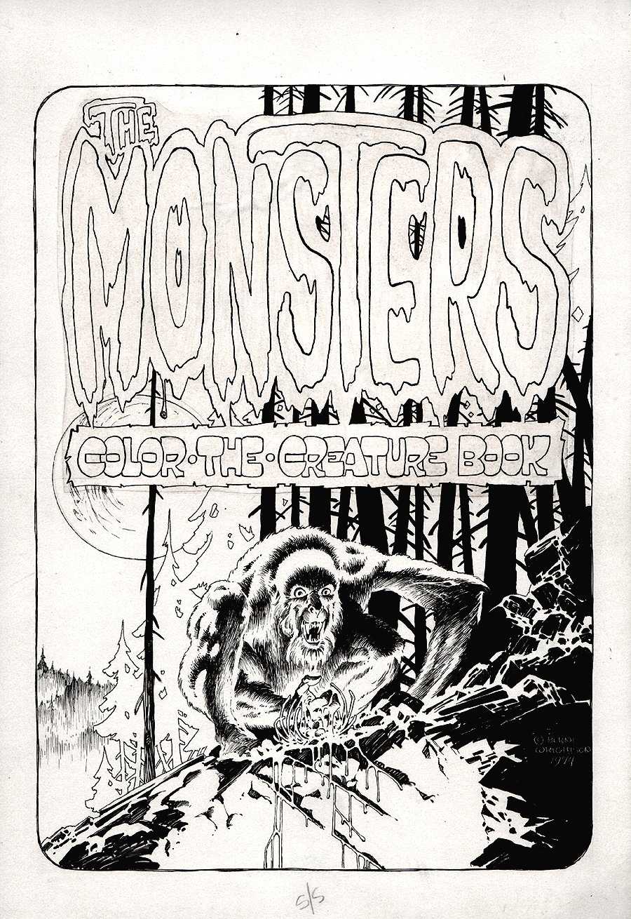 The Monsters: Color The Creature Cover (1974)