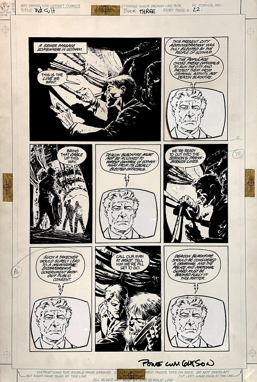 Batman: The Cult #3 p 22 (Large Art) 1988