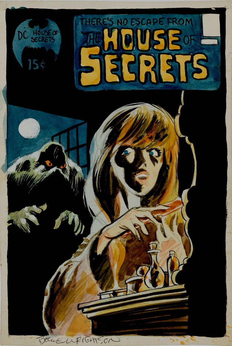 HOUSE OF SECRETS #92 Cover Painting! (1971)