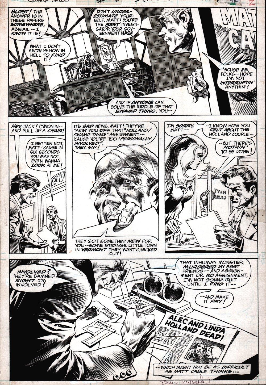 Swamp Thing #6 p 2 (STUNNING WRIGHTSON DETAIL!) 1973