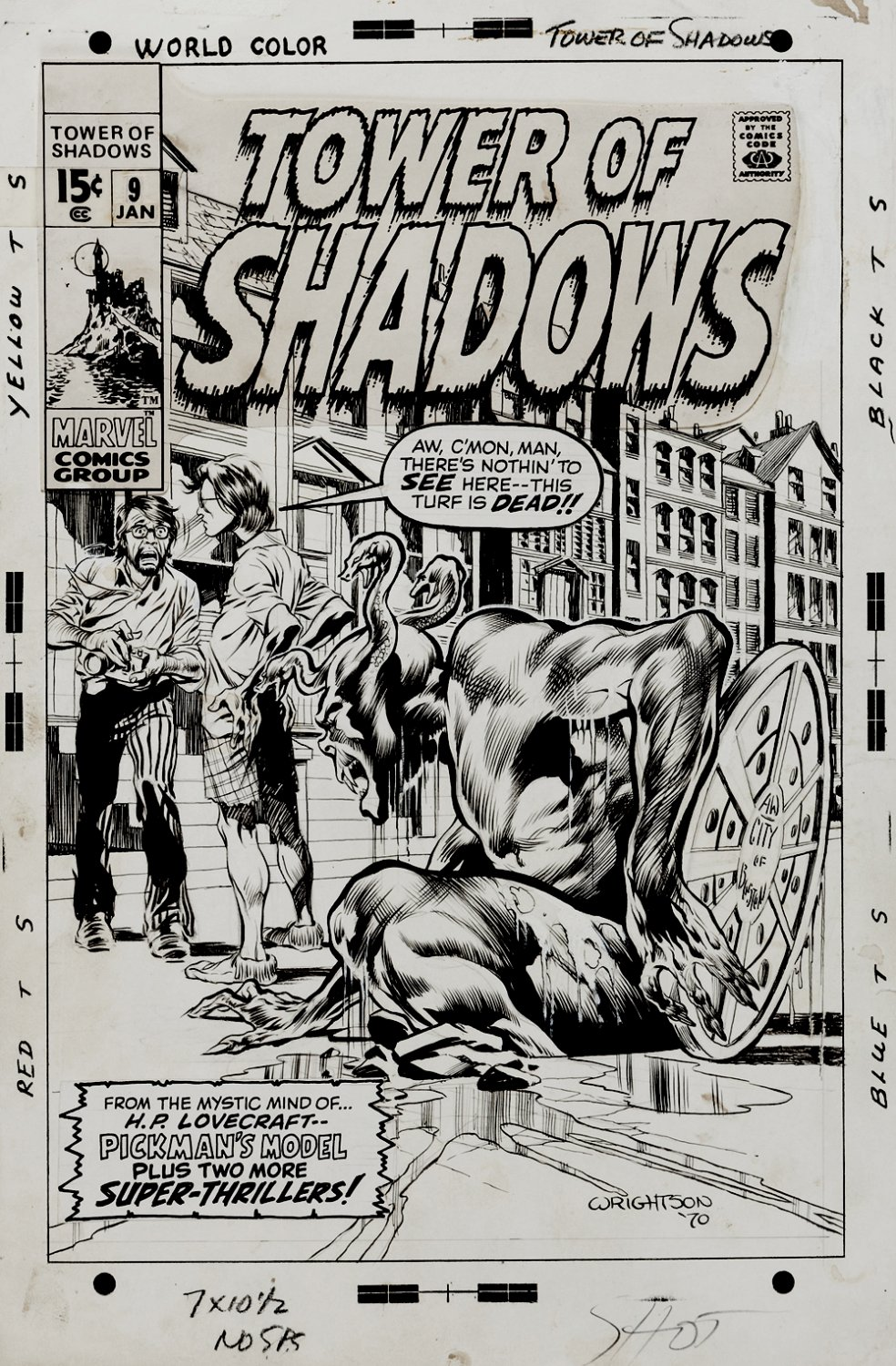 Tower of Shadows #9 Cover (FIRST TIME WRIGHTSON DREW HIMSELF ON A HORROR COVER!) 1970