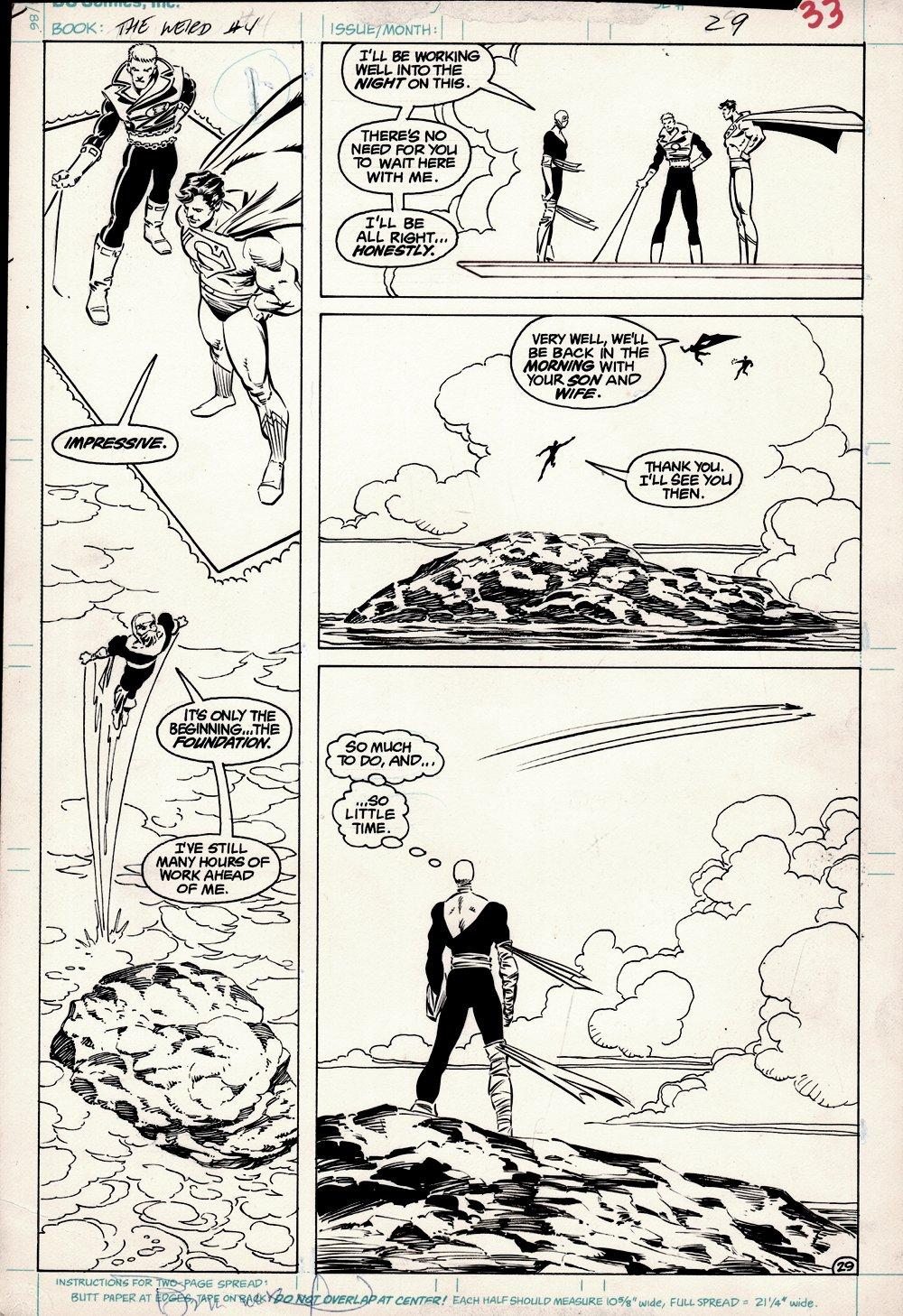 The Weird #4 p 29 (The Weird, Superman, & Guy Gardner!) 1988