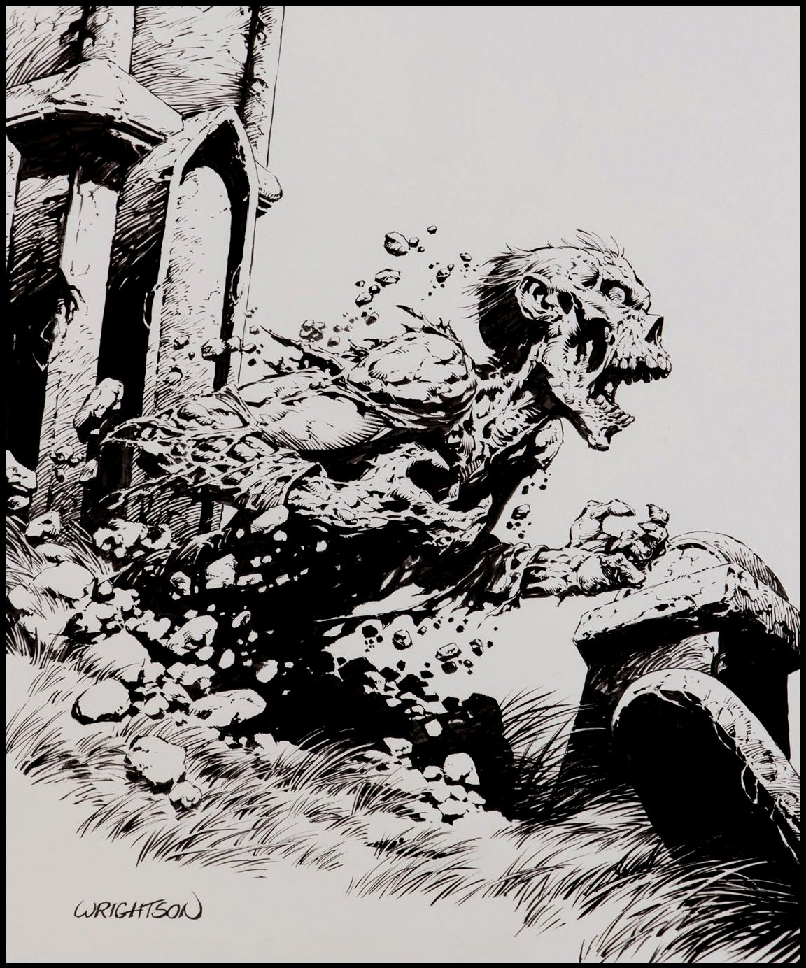 Published Large Zombie Image For T-Shirt Design & Wrightson's Personal Twitter Page!