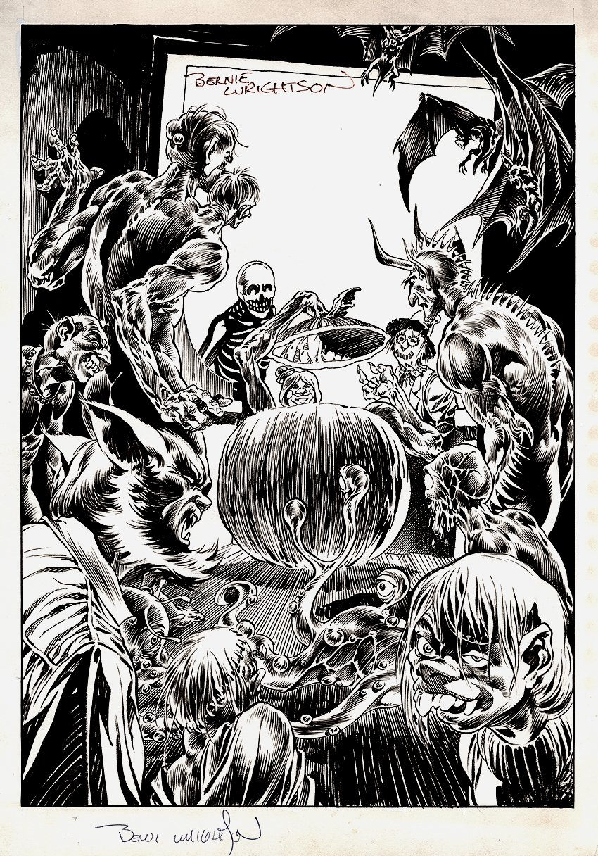 Bernie Wrightson: A Look Back: 'Trick Or Treaters' Published Illustration / Unpublished Cover (1973)