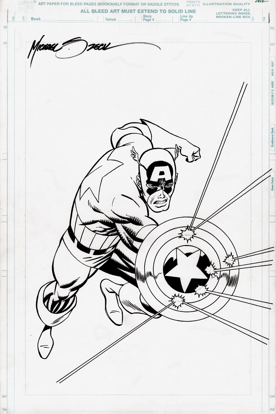 Captain America Published Pinup Used For T-Shirt Design! (1990)