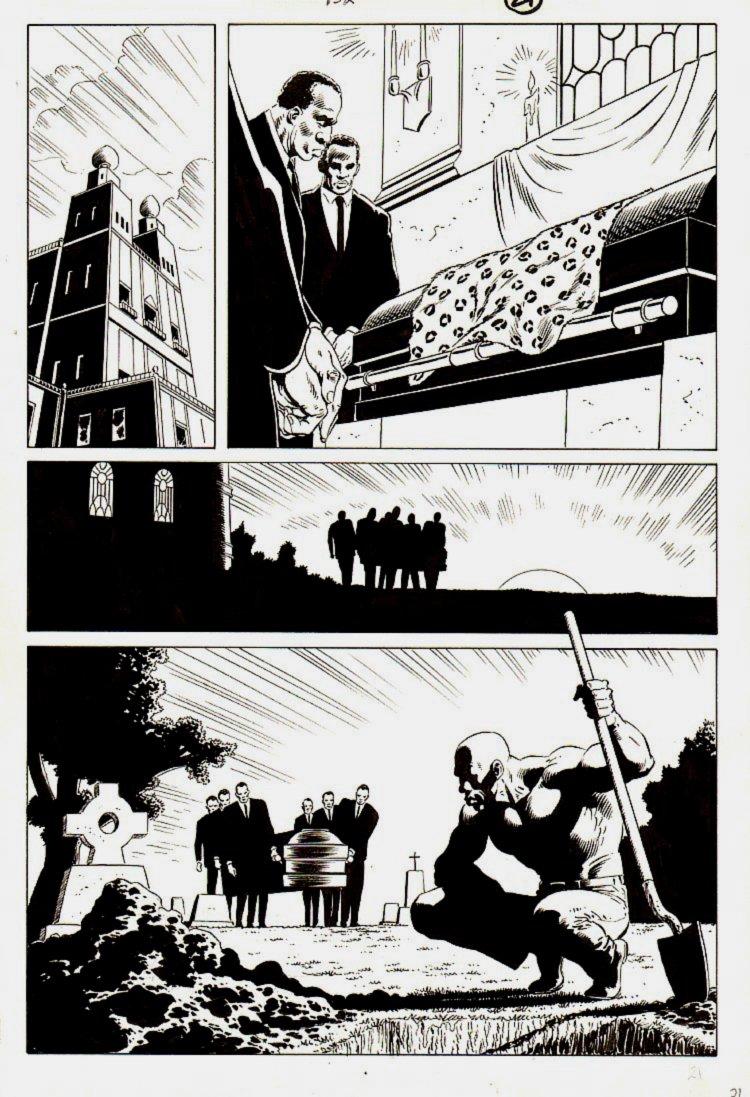 Spectacular Spider-Man #132 p 21 [Kraven's Last Hunt FUNERAL PAGE!) 1987]