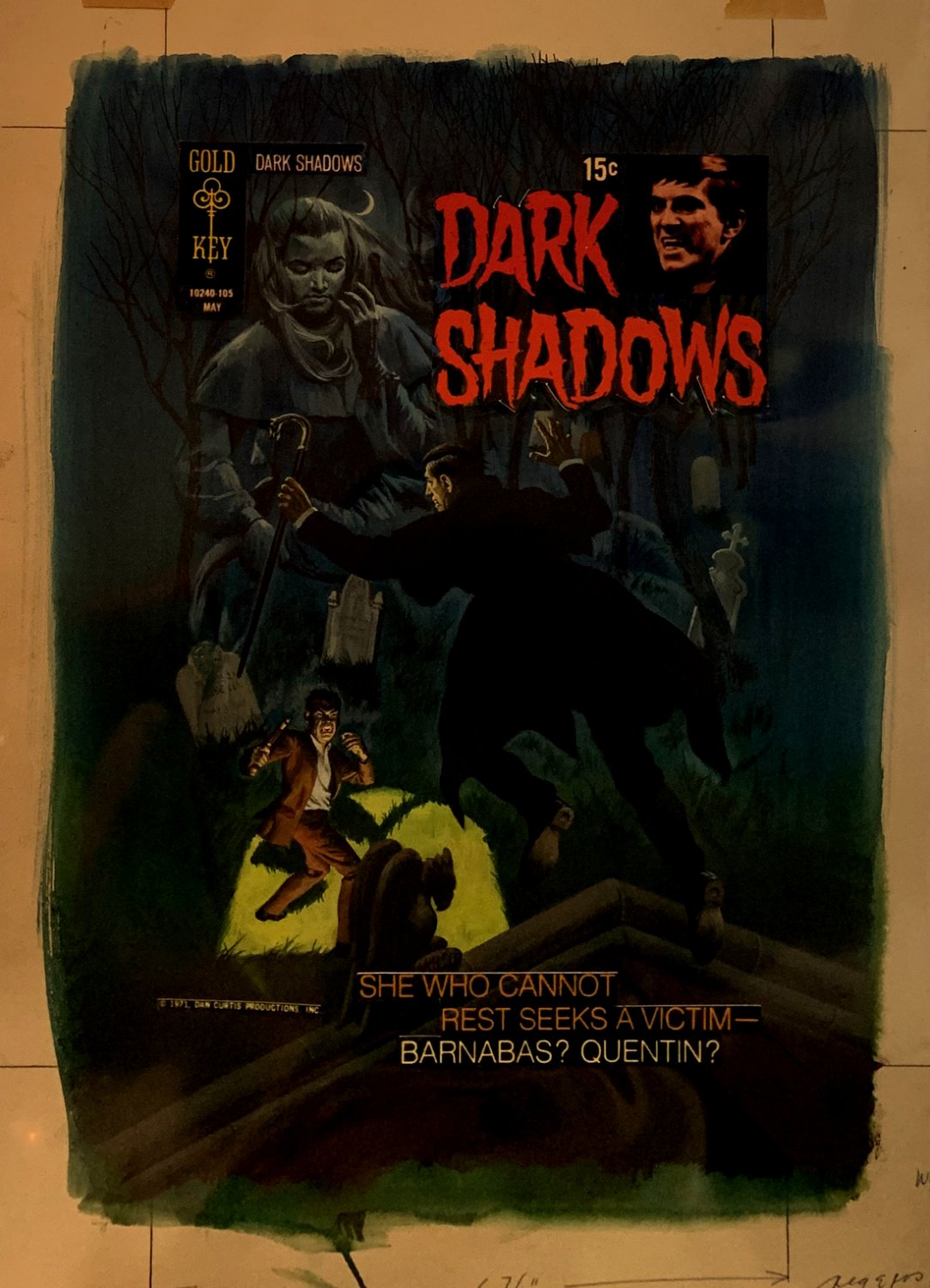 Dark Shadows #9 Oversized Cover Painting