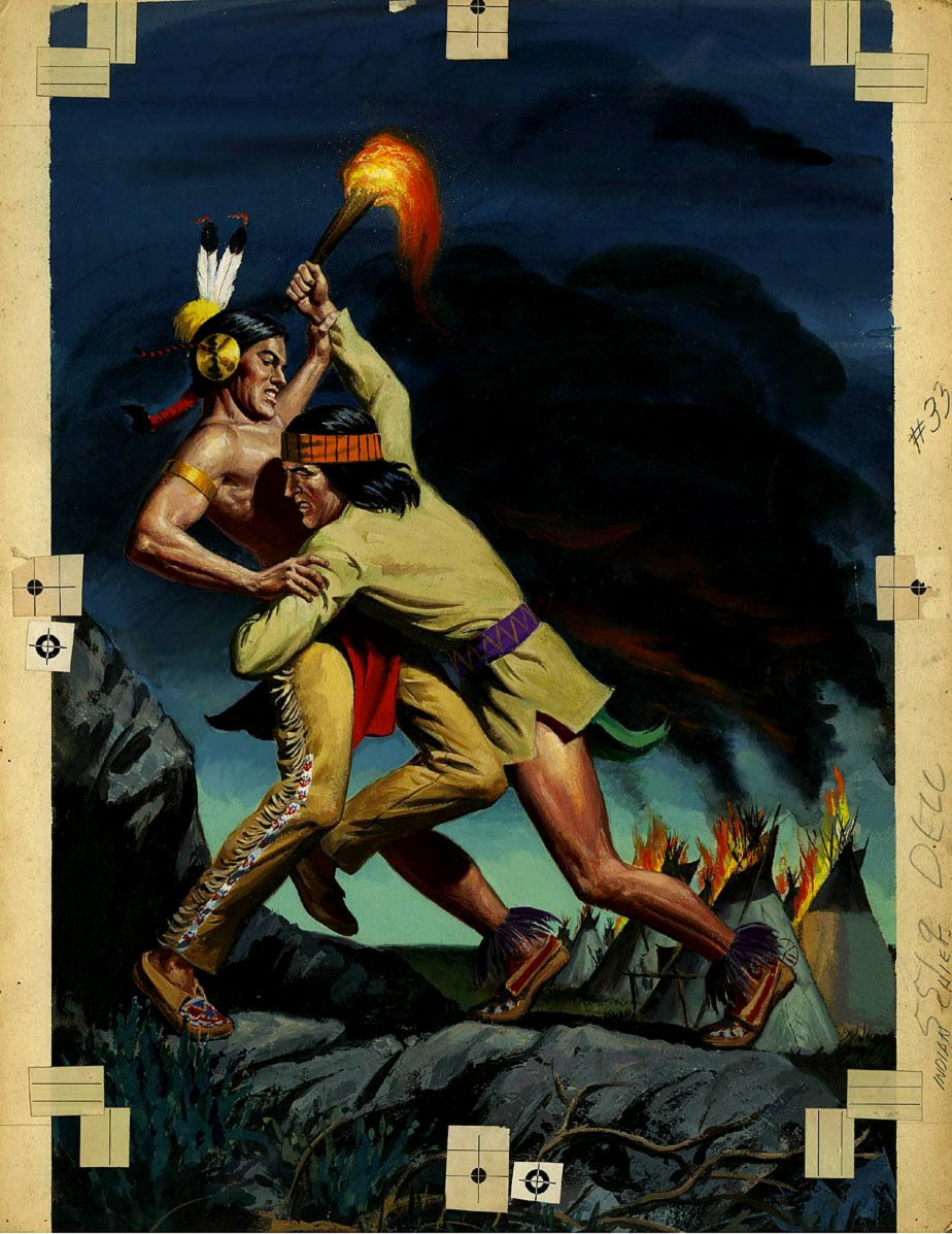 Indian Chief #33 Cover Painting (Large Art) 1958