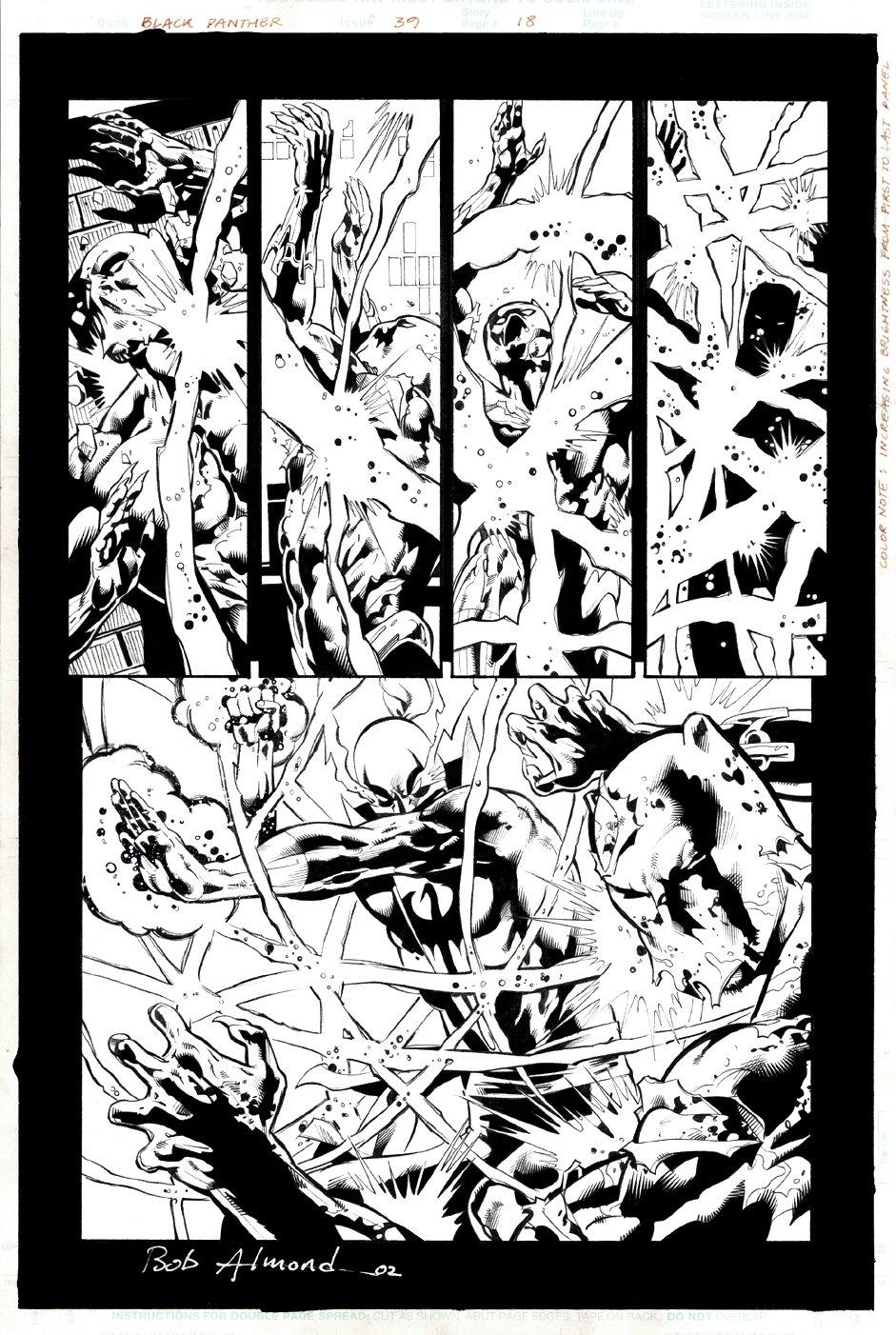 Black Panther #39 p 18 Semi-Splash (Iron Fist Battles Black Panther!) 2001