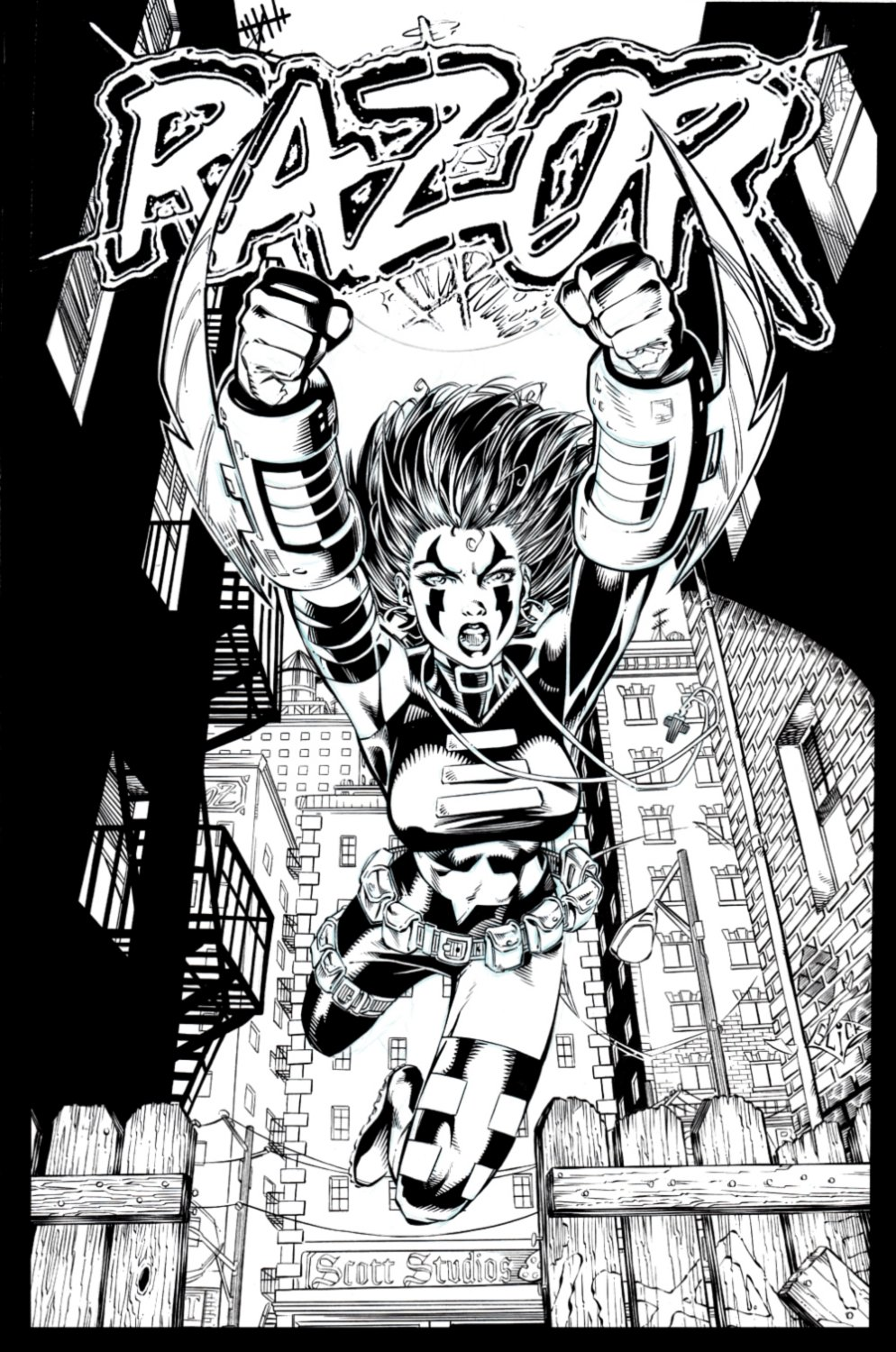 Razor: Uncut #23 Cover! (AWESOME ACTION COVER!) 1996