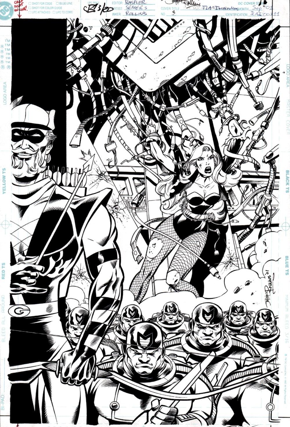 JLA: Incarnations #3 Cover (Black Canary & Green Arrow) 2001