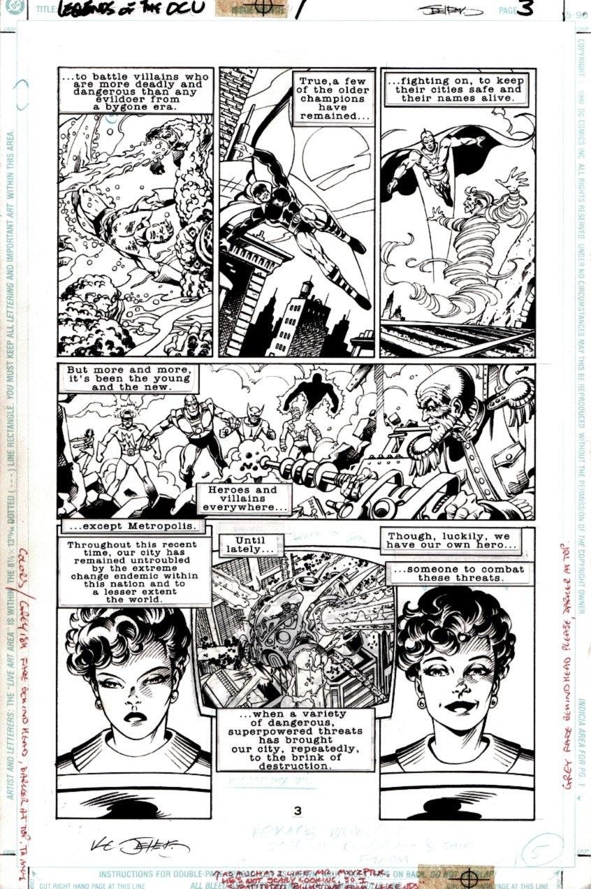 Legends of the DC Universe #1 p 3 (Aquaman, Hourman, Starman, Doom Patrol, Lois Lane) 1997