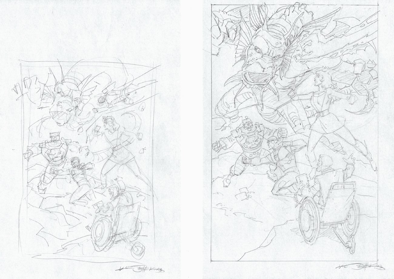 2 Doom Patrol vs Fin Fang Foom & Arnim Zola Prelims (2013)