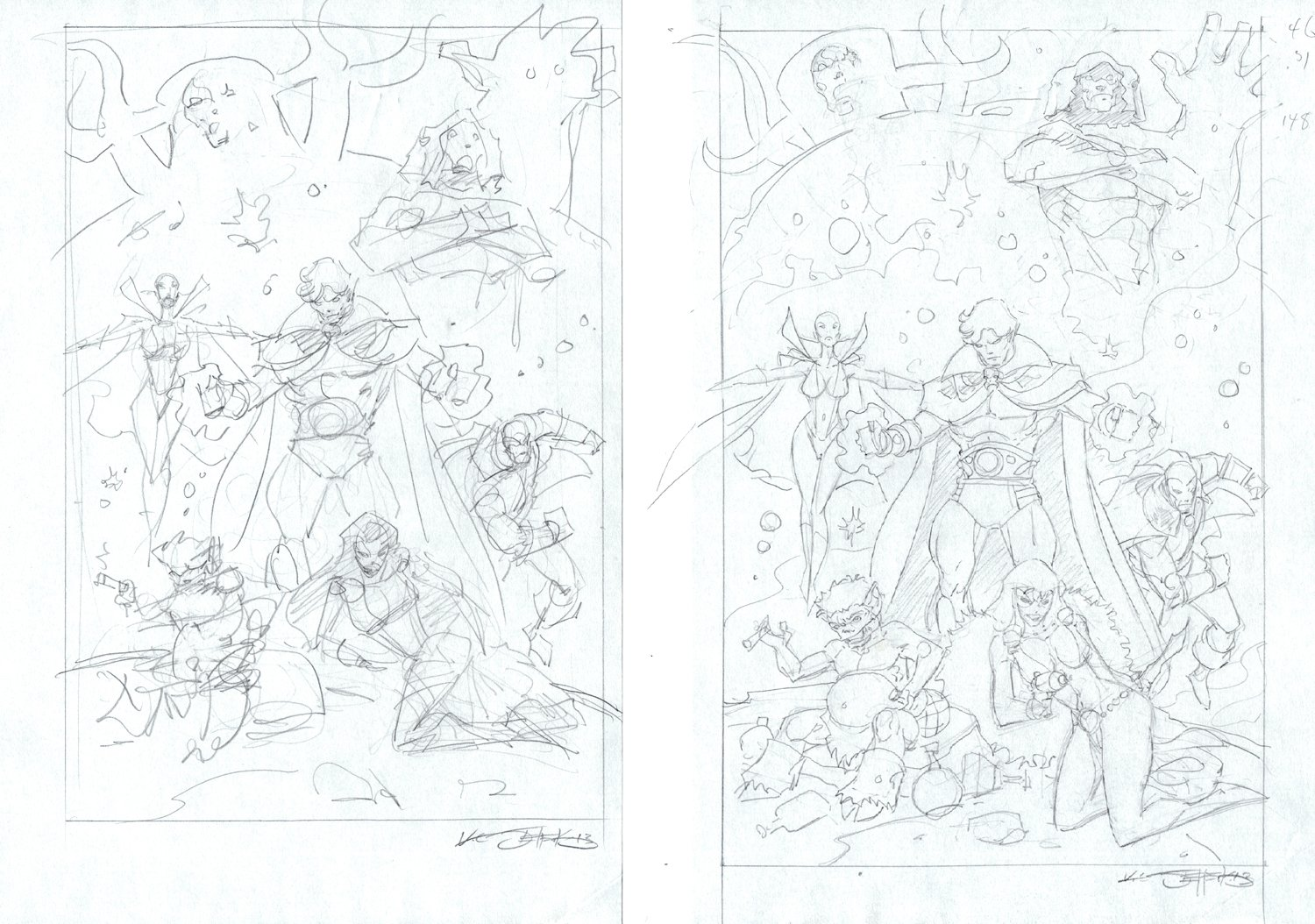 2 Warlock, Drax, Pip, Moondragon, Eternity, Living Tribunal Prelims (2013)
