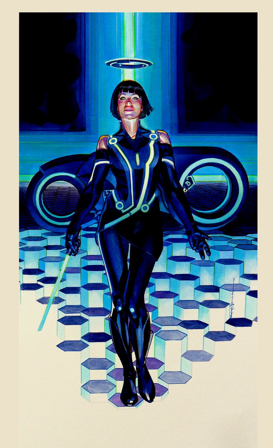 Quorra Painting (Oversized TRON PAINTING)